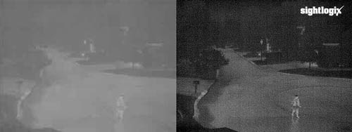 low contrast and high contrast thermal camera example